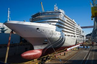 New Ship Silver Dawn Floats Out at Fincantieri shipyard in Ancona  (January 2021)