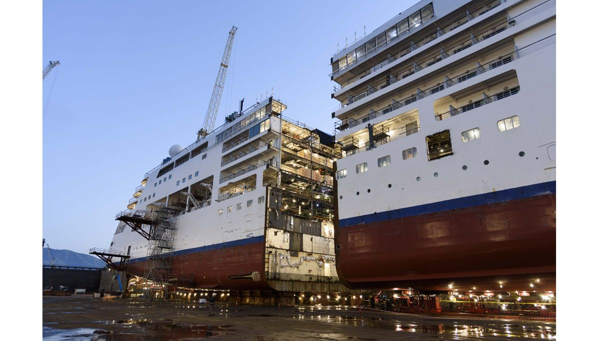 Cut In Two The Lengthening Process Of Silversea S Silver