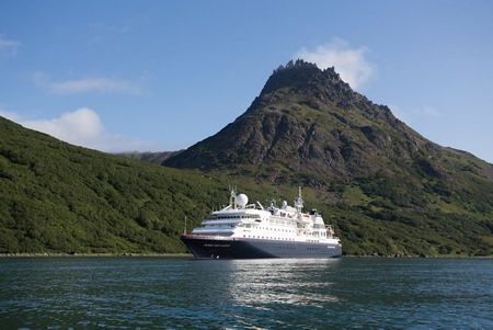 Silver Discoverer in Glubokaya Bay - Kamchatka