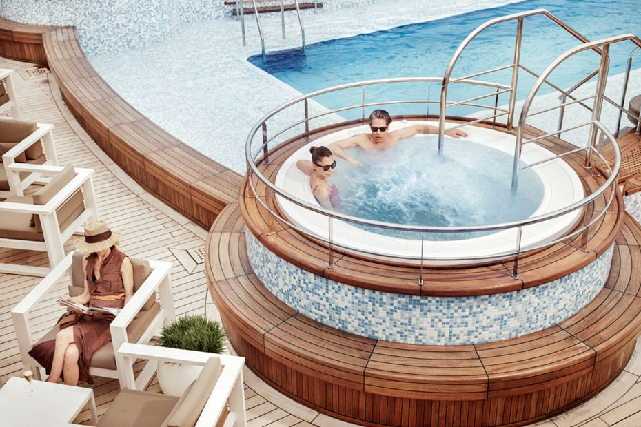 Silver Muse - Pool Deck and Jaccuzzi Area