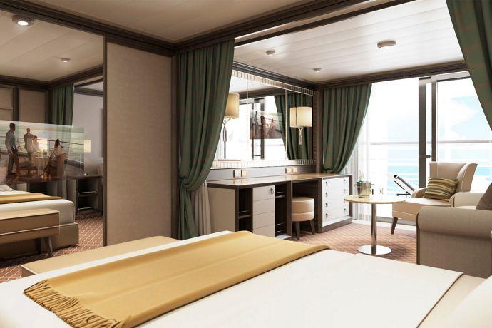 Classic Veranda Suite mit luxuriösem Interieur | | Silversea