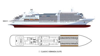 Silversea Luxury Cruises - Classic Veranda Suite