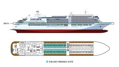 Silversea Luxury Cruises - Deluxe Veranda Suite