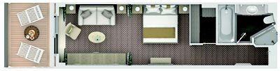 Silversea Luxury Cruises - Deluxe Veranda Suite