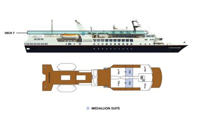 Silversea Luxury Cruises - Medaillon Suite