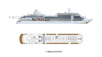 Silversea Luxury Cruises - Medaillon Suite