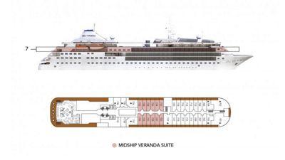 Silversea Luxury Cruises - Midship Veranda Suite