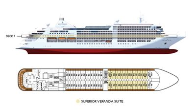 Silversea Luxury Cruises - Superior Veranda Suite