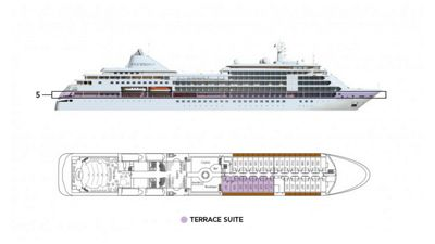 Silversea Luxury Cruises - Terrace Suite