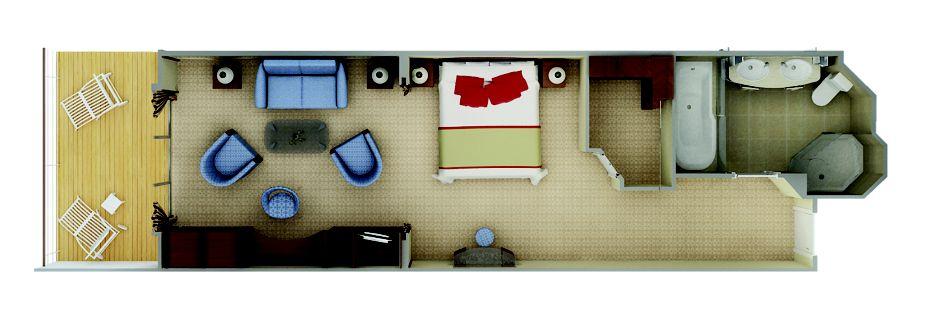 Veranda Suite For A Luxury Cruise Silver Shadow Silversea